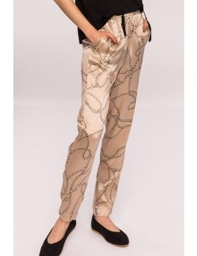 Pantaloni slim cu imprimeu