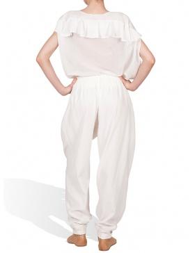 Pantalon larg cu basc matlasat