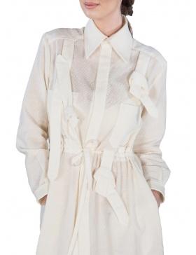Rochie-cămașă albă