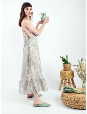 Rochie de tip furou din voal transparent cu imprimeu grafic