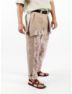 Pantaloni imprimati cu desene Sandra Chira