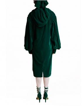 Rochie hanorac verde smarald