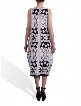 Rochie cu imprimeu fagure
