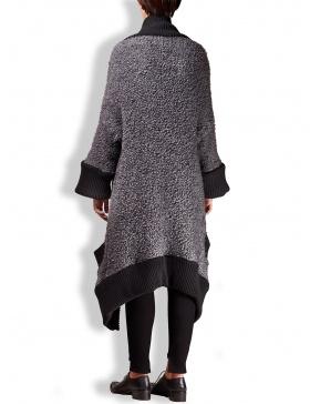 Cardigan gri din lana pufoasa
