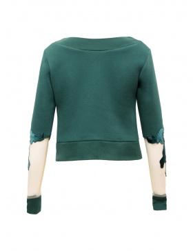 Canvas Crop Sweater