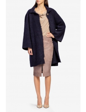 Cardigan din lana bleumarin
