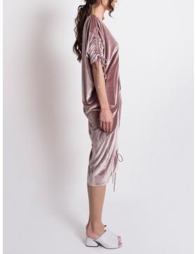 Rochie asimetrica din catifea