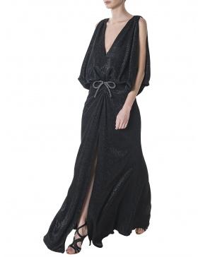 Rochie neagra cu animal print