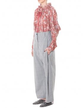 Pantaloni in carouri cu falduri late