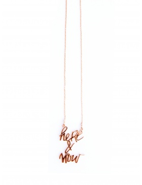 Colier Here&Now placat cu aur roz by Skindeep x Moogu