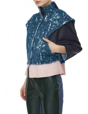Jacheta gri cu peplum