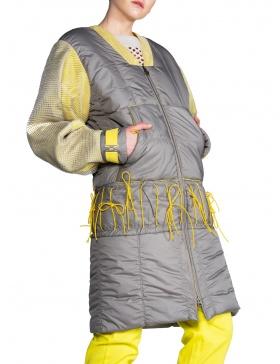 Jachetă matlasată sport cu accente galben citron