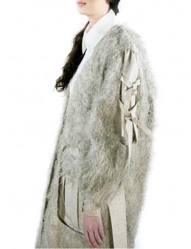 Jachetă oversize cu fire naturale
