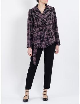 Jacheta Robyn din stofă în carouri cu buzunare