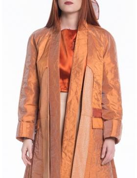 Jachetă oranj cu pliuri
