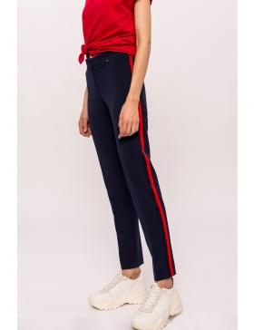Pantaloni cu vipusca in contrast