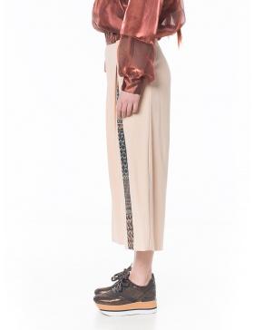 Pantaloni cullote corai pastel