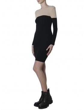 Rochie bicolora cu design minimalist