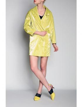 Rochie - jacheta cu aspect lucios