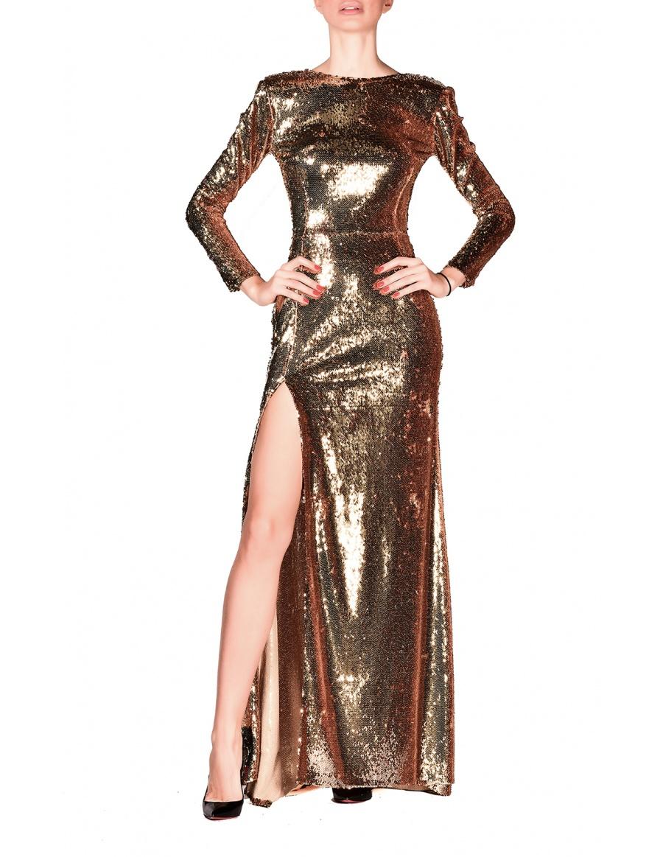 Rochie Gold Long Dress