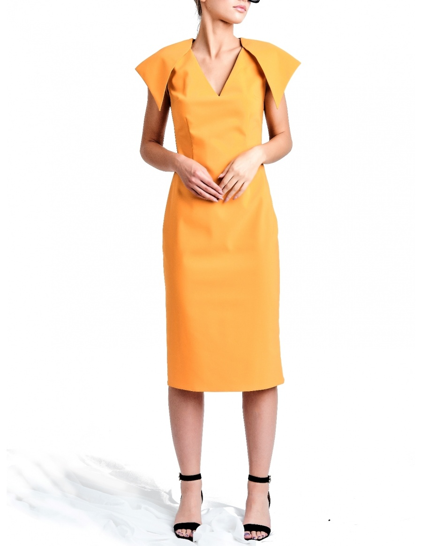 Rochie Susur Mustard-Coral