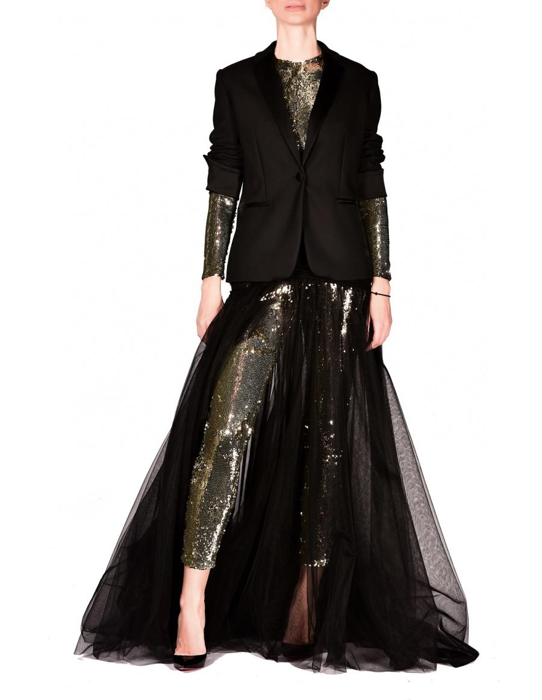 Fusta Diafane Black Skirt