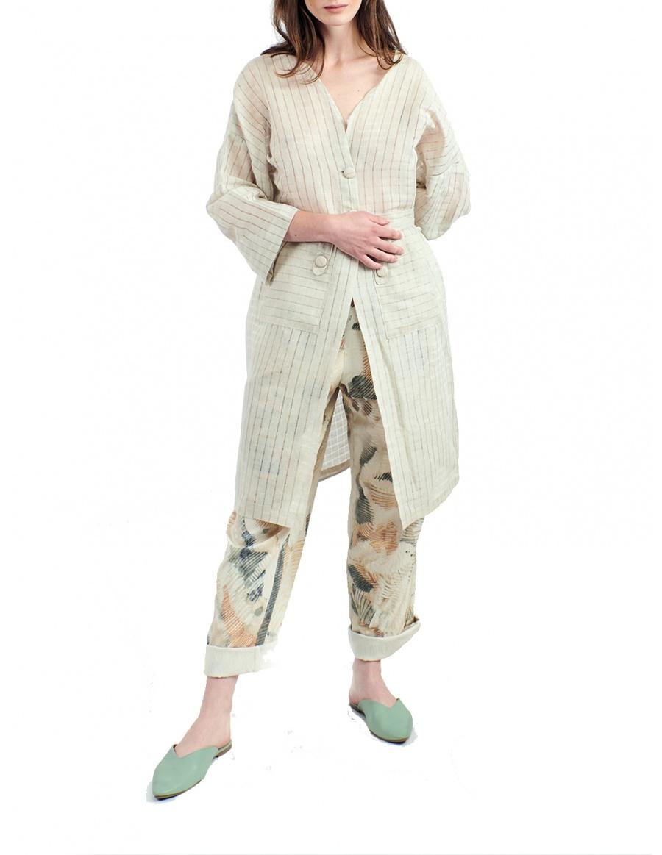 Kimono din in semi-transparent
