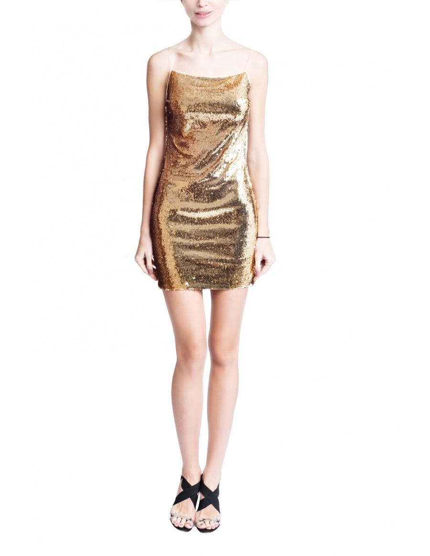 Mini Gold Dress
