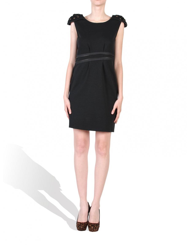 Rochie neagra cu epoleti
