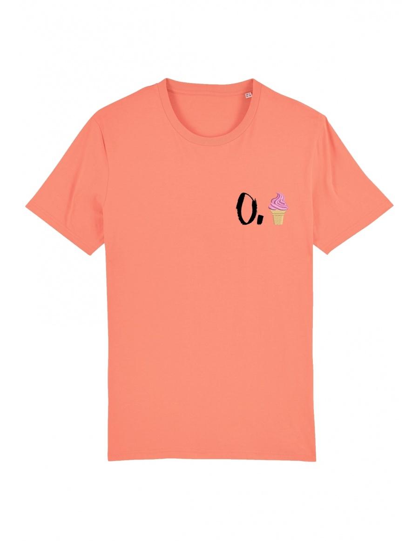 Tricou O. inghetata - scris negru