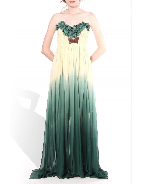 Rochie lunga cu petale