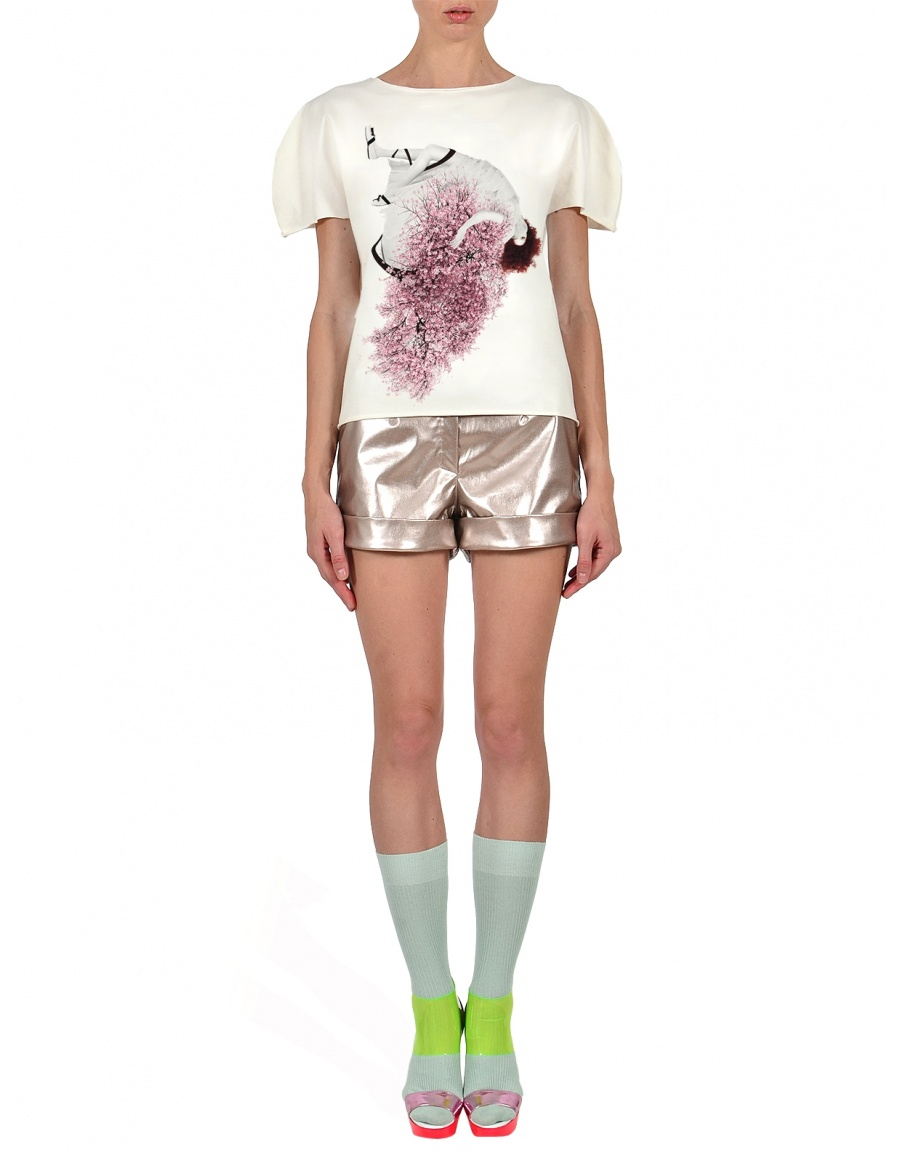Tricou Royaly Cherry Blossom Girl in nuanta lapte
