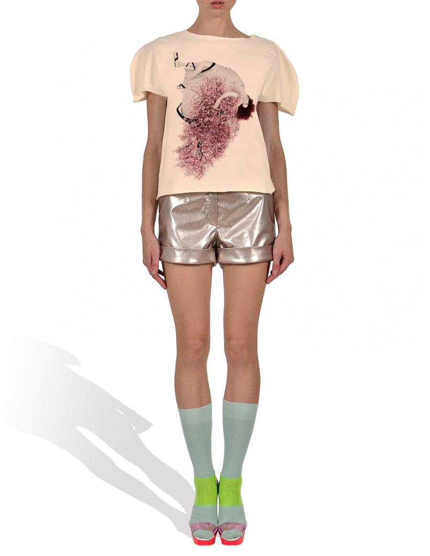 Tricou Cherry Blossom Girl in nuanta vanilie