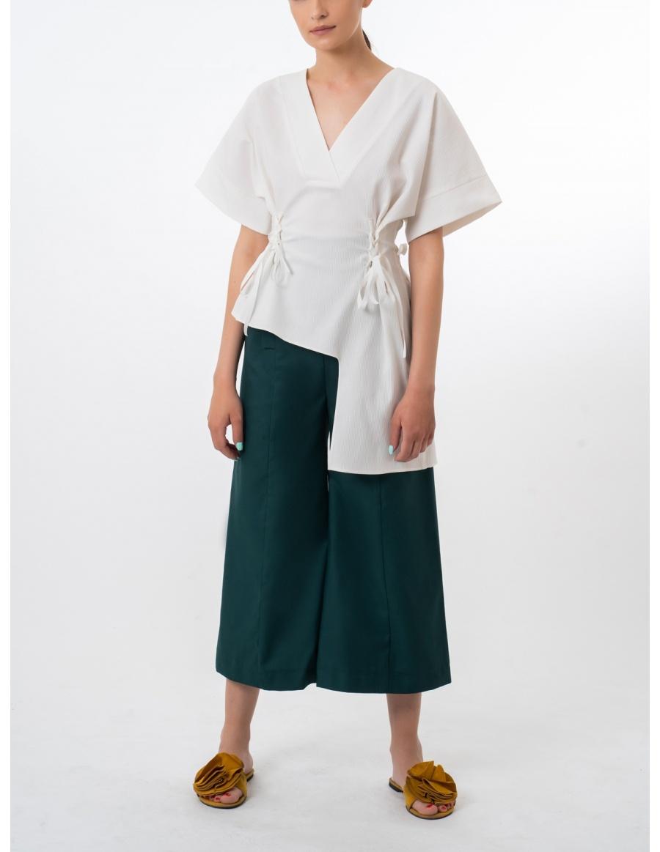 Bluza din bumbac white cristal