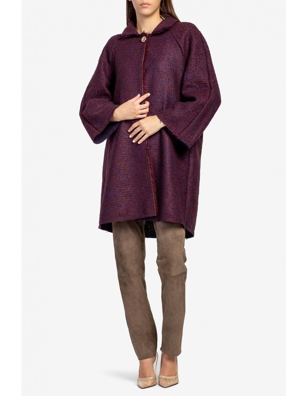 Cardigan din lana bicolor