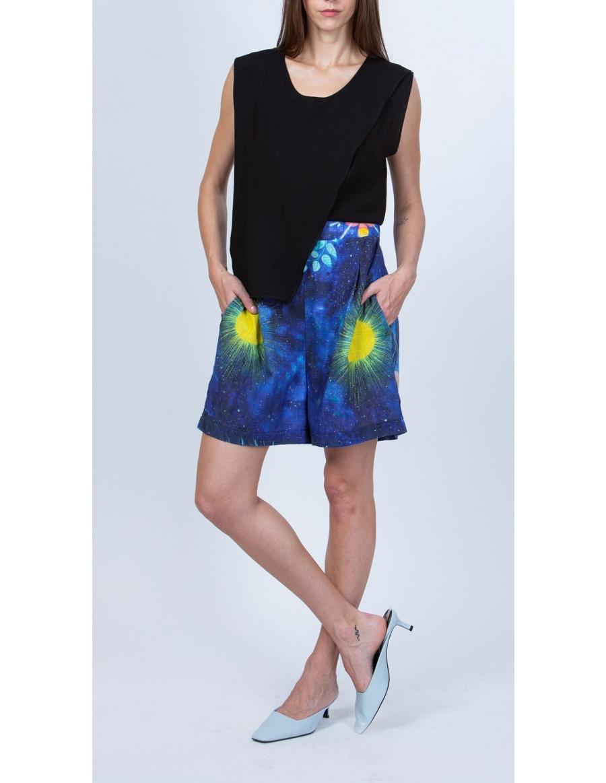 Pantaloni scurti gipsy cu print jellyfish