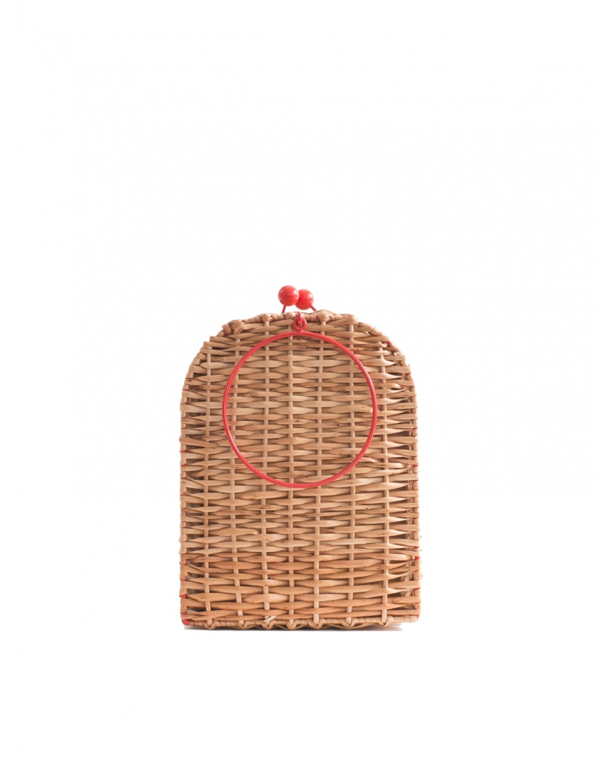 Cherry Wicker Bag Tall