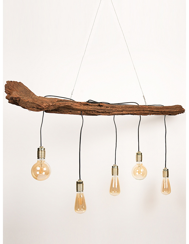 Corp de iluminat suspendat din lemn
