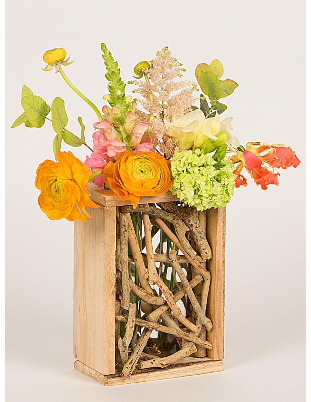 Suport pentru flori cu crengute si 2 eprubete