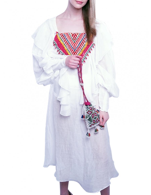 Romanian blouse inspired dress