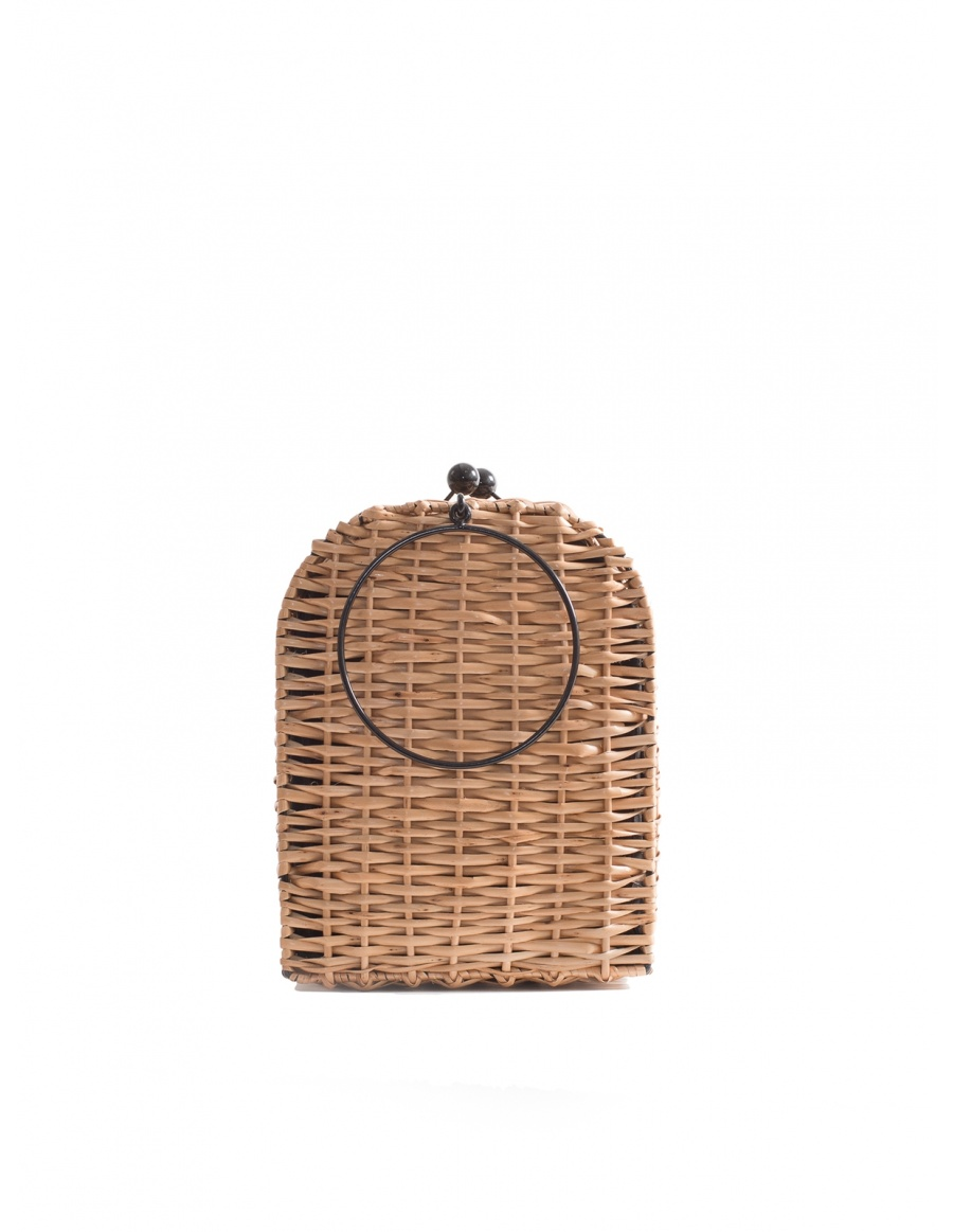 Espresso Wicker Bag Tall