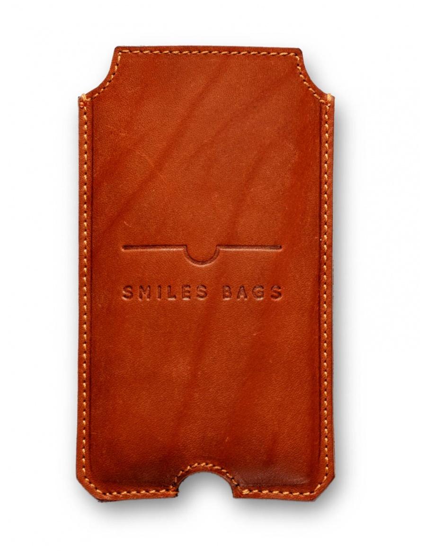 Husă din piele pentru iPhone 6 - maro