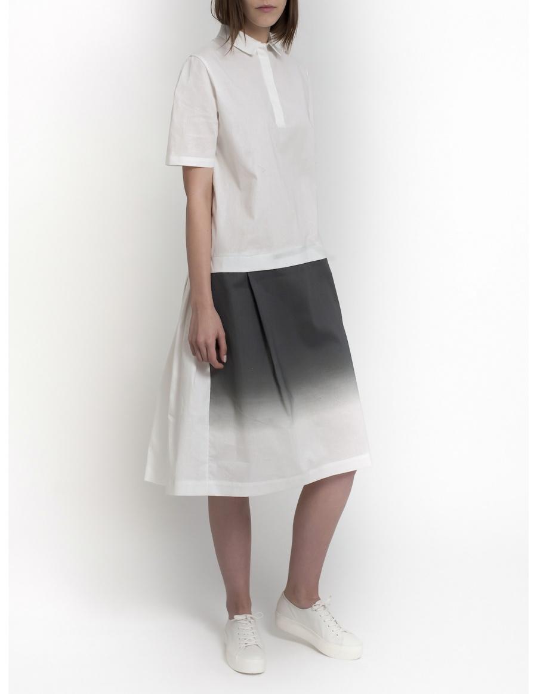 Rochie camasa cu print degrade