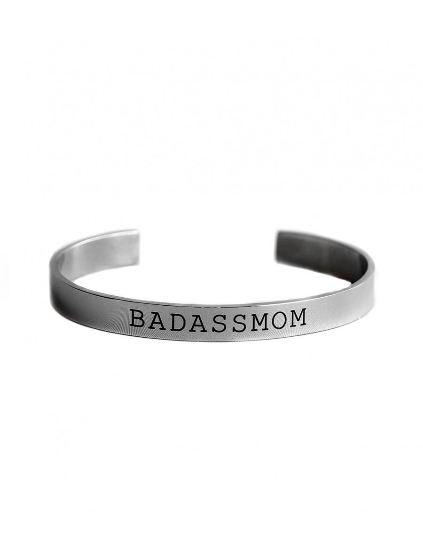"Mood Bracelet ""BADASSMOM"" - argintiu"