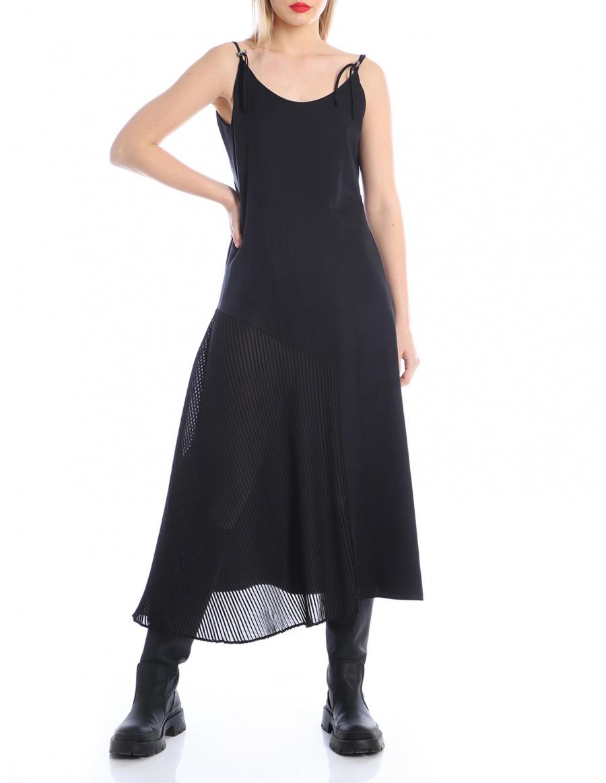 Rochie cu panou plisat