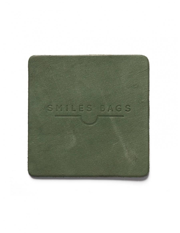 Suport pahar din piele - verde