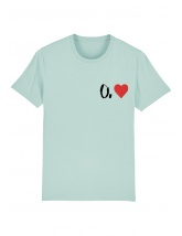 Tricou O. inima - scris negru
