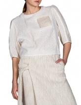 Bluză albă cu transparențe