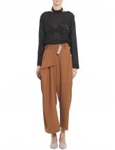 Pantaloni asimetrici cu fald