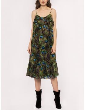 Rochie din vascoza cu print